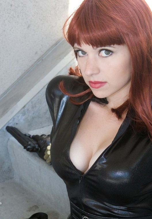Busty Girls In The Black Widow Costumes 21 Pics