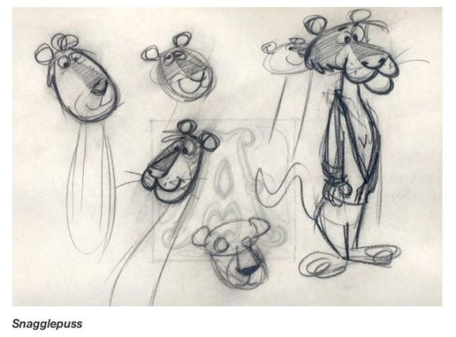 First Sketches of the Popular Cartoon Characters