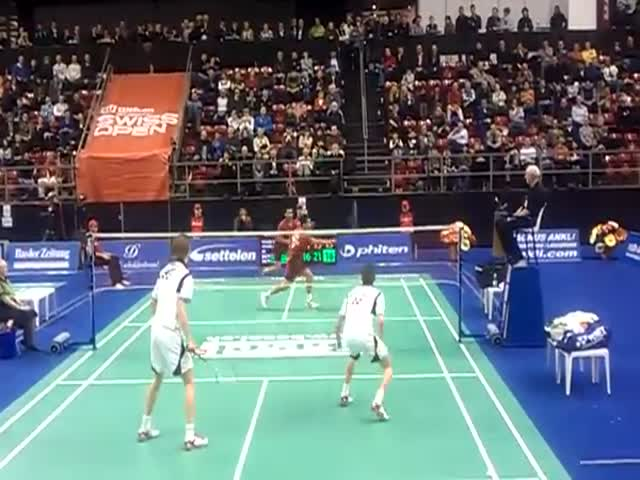 Incredible Badminton Rally