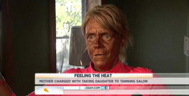 Suntan-Loving Mother Goes the Limit