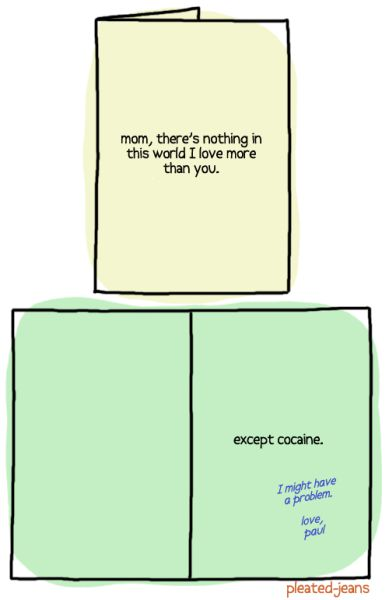 Funny Confession Cards for Mother's Day