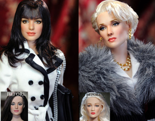 Lifelike but Somehow Creepy Repainted Dolls