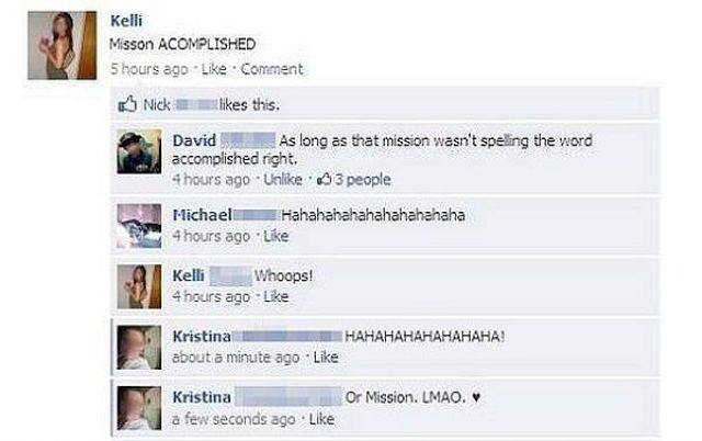 Never Underestimate the Stupidity of Some Facebook Users