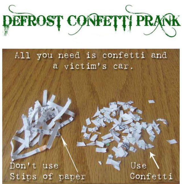 Confetti in the Car Prank