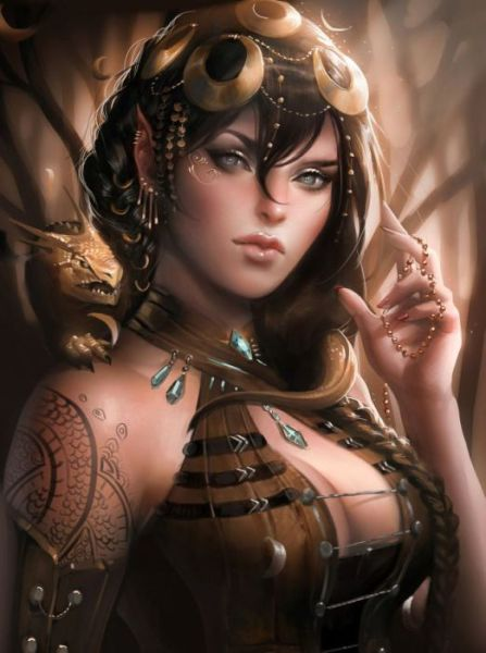 Portraits of Fantasy Beauties