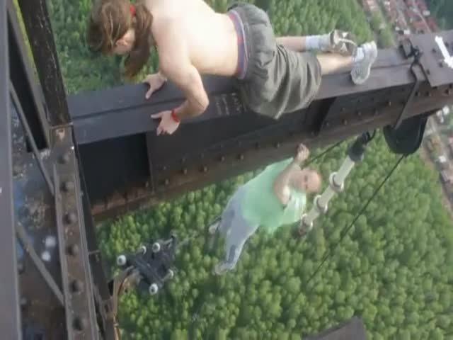 Crazy Russian Adrenaline Junkies at It again!