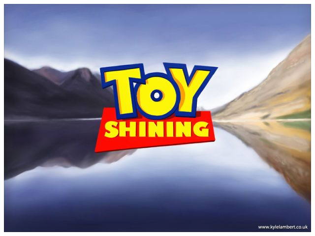 """Toy Shining"" Movie Mash-Up Painted on iPad"