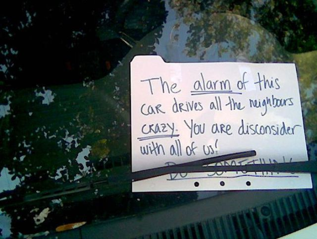 Do Everybody a Favor, Turn Your F*** Car Alarm Off!