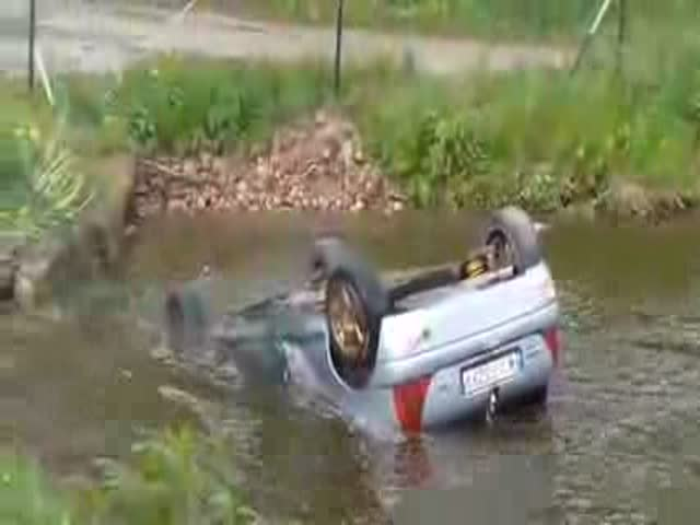 Spectators Save Rally Driver from Drowning in Poland