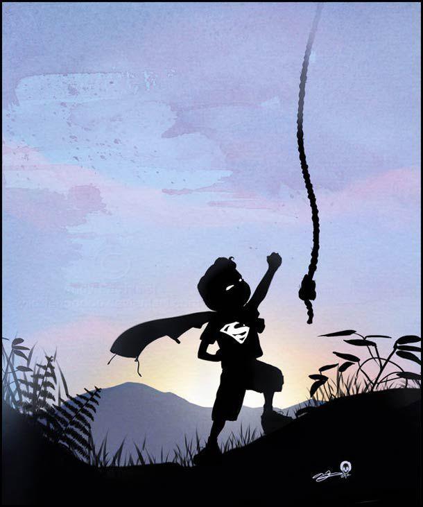 Beautiful Kids as Superheroes Illustrations