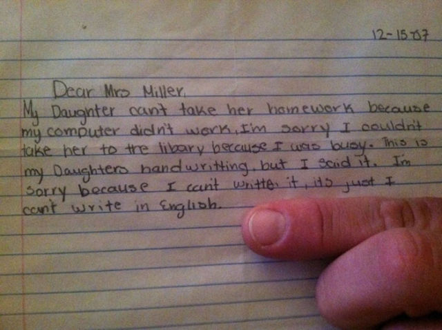 Middle School Teacher Confiscates Incredible Student Notes