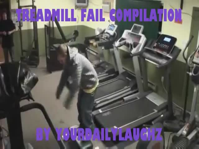 Treadmill Fail Compilation 2012