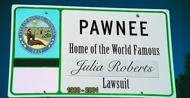 Funny Pawnee Welcome Signs