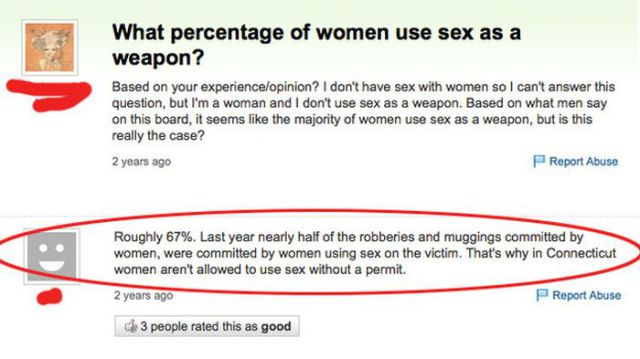Ridiculous Questions about Sex from Yahoo Answers