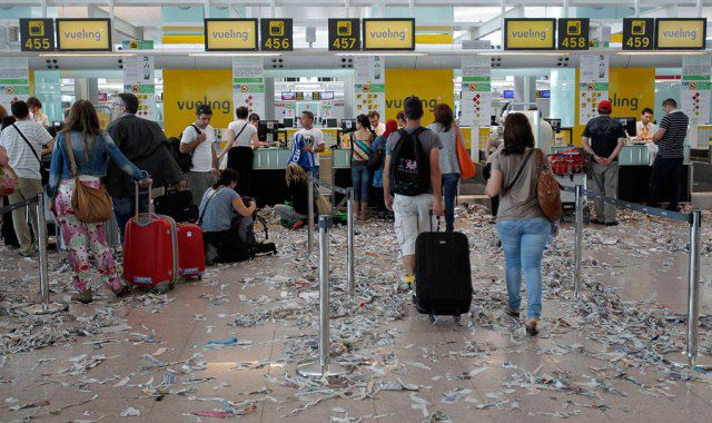 Barcelona Airport Turned Into a Pile of Rubbish