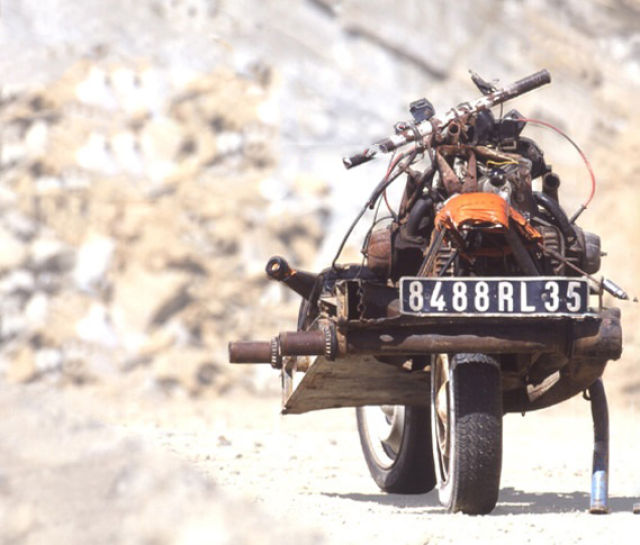 The Man Who Built a Motorcycle from a Car