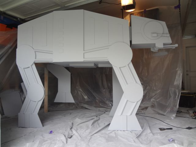 Parents Build AT-AT Bed for Their Little Son