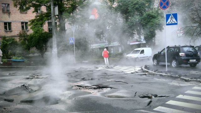 Rippled Kyiv Road Welcomes Euro 2012