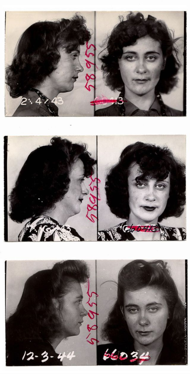 Vintage Mugshots of Female Criminals