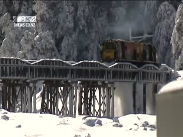 Clearing Snow from Railway Like a Boss