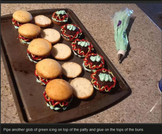 How To Make Hamburger Cupcakes