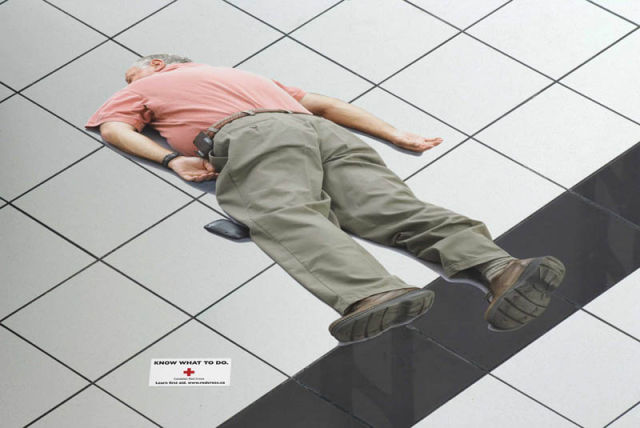 Floor Ads You Can't Just Walk Over