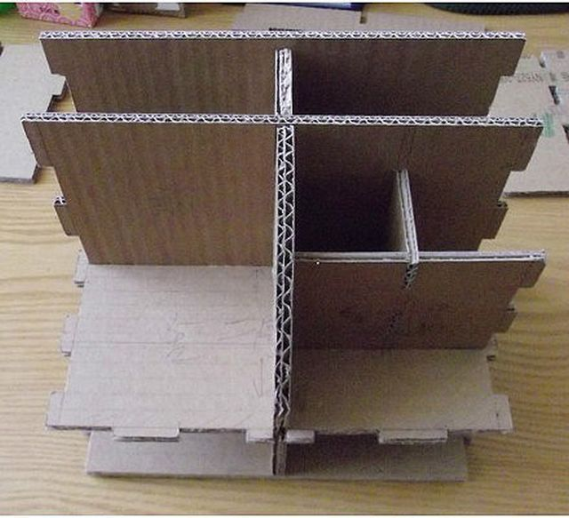Hand-Made Cardboard Stationery Box