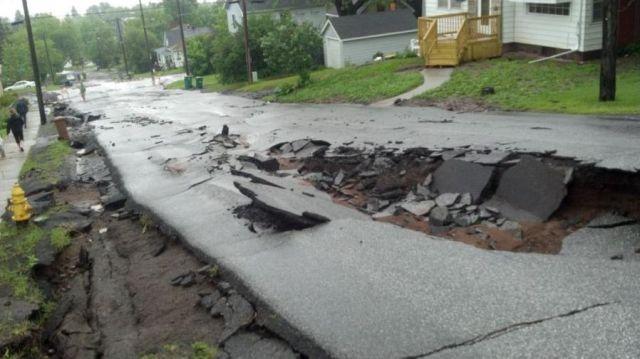 Heavy Rains Cause Flooding in Minnesota
