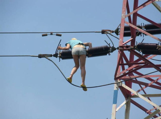 That Was the Craziest Reason to a Climb an Electricity Pylon