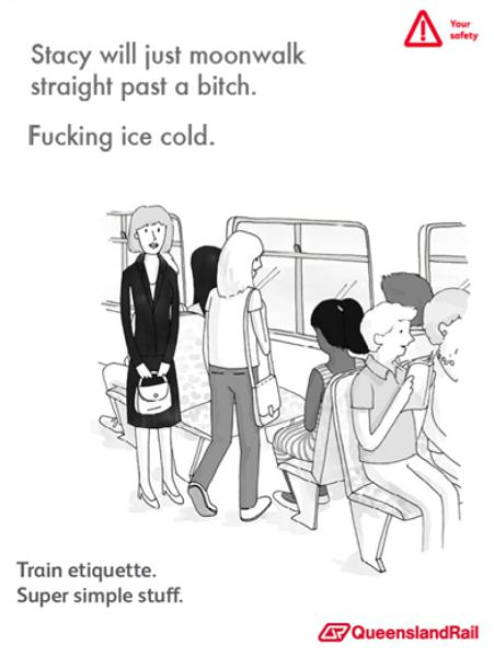Hilariously Weird Train Etiquette Posters