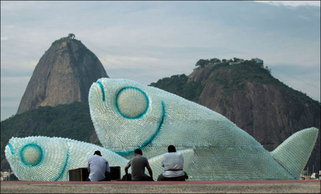 Unusual Sculptures Emerge on Brazilian Beach