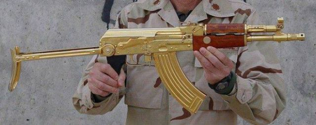 Golden Weapon from Saddam's Armory