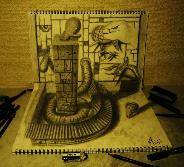 3D Pencil Drawings That Jump Out at You