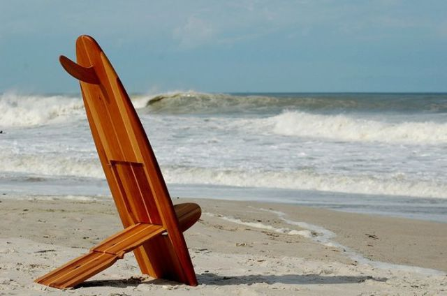 Surfboard and Chair Combined