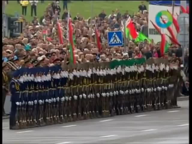 Wicked Belarusian Military Parade, Domino-Style!