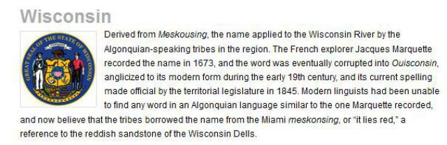 The Origins of U.S. State Names