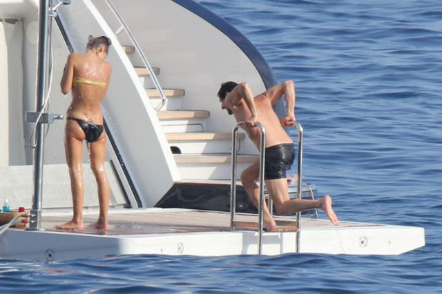 Adrian Brody Has a Naughty Yacht Shower