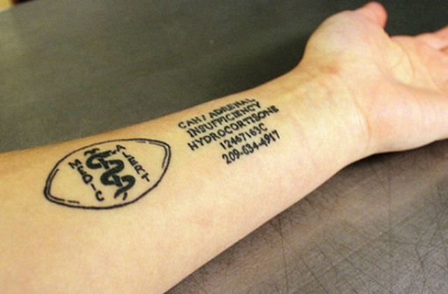 Tattoos Telling a Disease