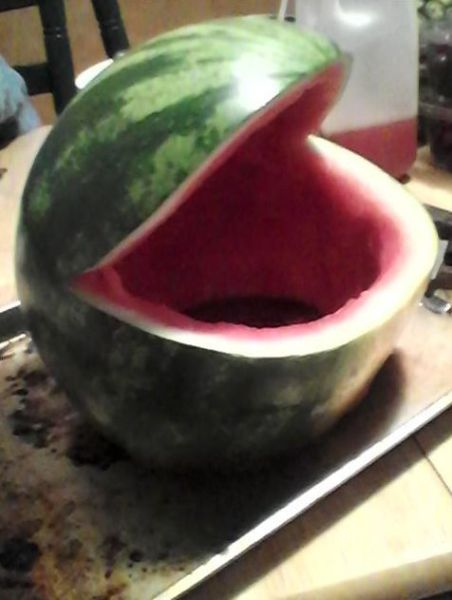 Funny Frog Bowl Made Out of Watermelon