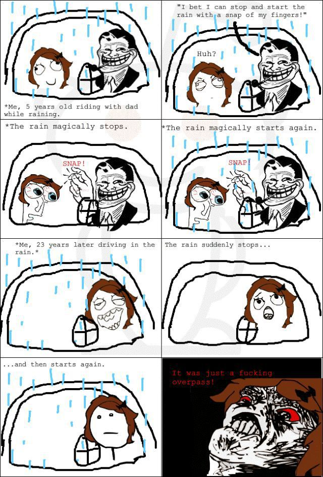 """Funny """"Troll Dad"""" Comics Collection"""