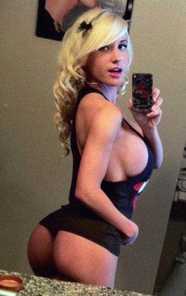 Huge breasts on teen