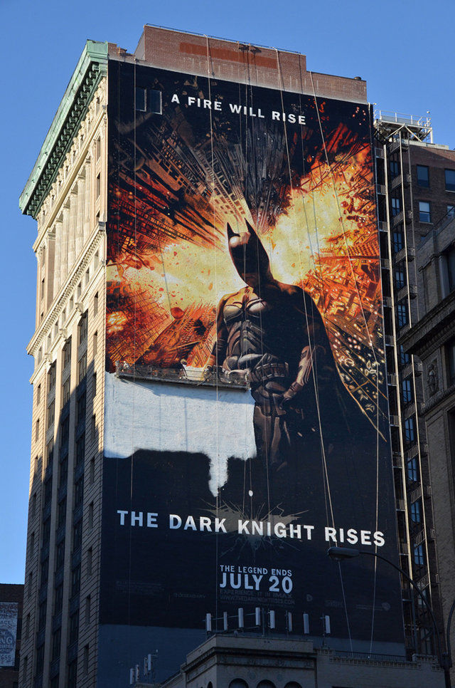 "Enormous ""Dark Knight Rises"" Mural"