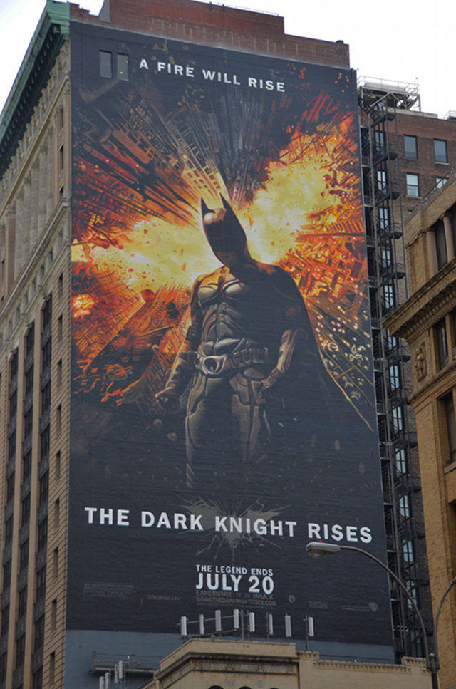 Enormous dark knight rises mural 12 pics for Dark knight mural