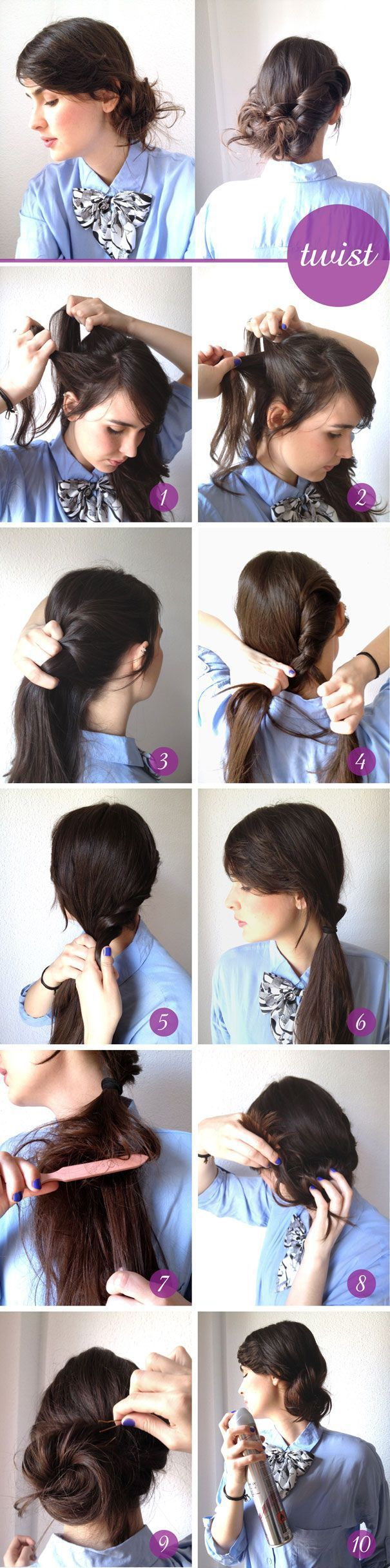 Creative Hairstyles That You Can Easily Do at Home (27 - How To Make Hairstyle At Home For Girls Step By Step