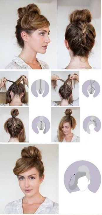 Creative Hairstyles That You Can Easily Do At Home 27