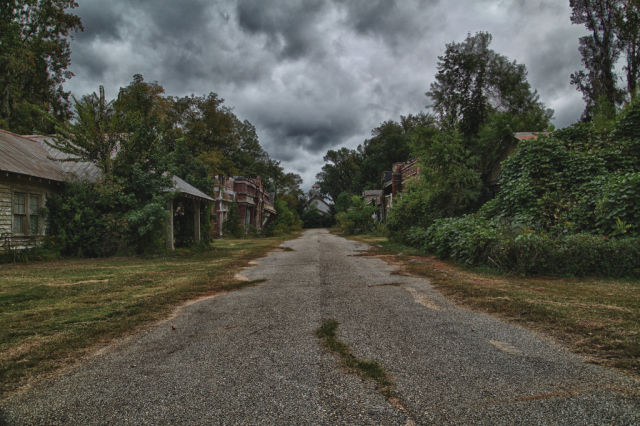 Gloomy View of Abandoned Towns
