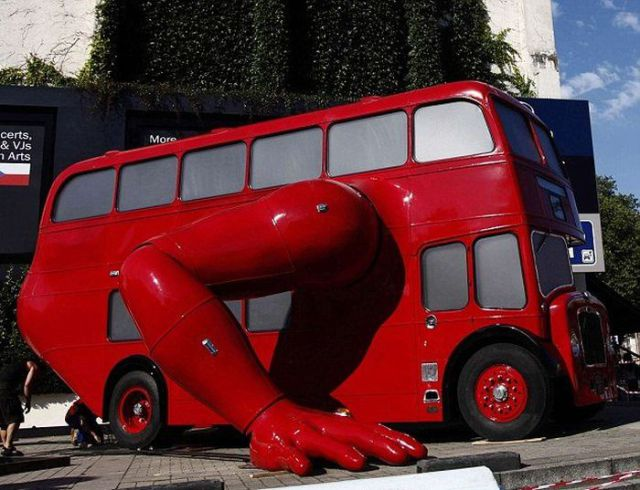 Eye-Catching Olympic Double Decker Artwork