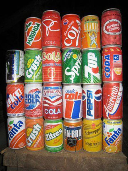 Beverage Cans of the '80s and '90s