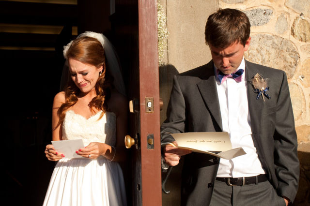 Couple Exchanges Private Love Letters Before the Wedding