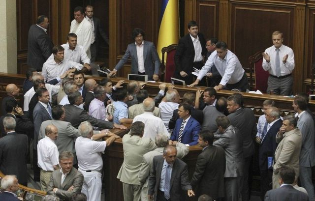 That's How They Handle Problems in Ukrainian Parliament